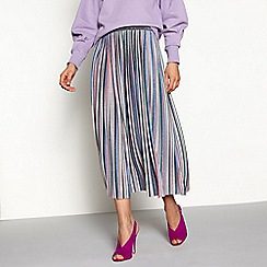 H! by Henry Holland - Multi glitter stripe pleated midi skirt