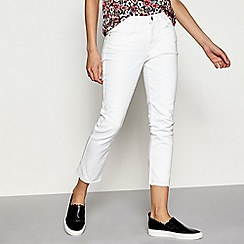 H! by Henry Holland - White raw hem cropped jeans