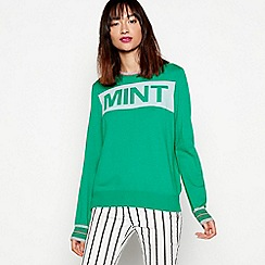 H! by Henry Holland - Green mint slogan jumper