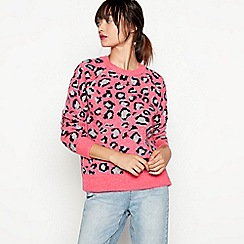 H! by Henry Holland - Pink animal print jumper