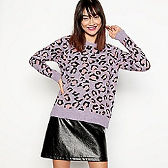 H! by Henry Holland - Lilac animal print jumper