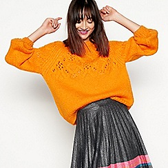 H! by Henry Holland - Orange chunky cable knit jumper