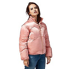 H! by Henry Holland - Pink cropped quilt jacket