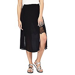 H! by Henry Holland - Black crepe midi skirt