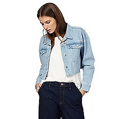 H! by Henry Holland - Mid blue cropped denim jacket