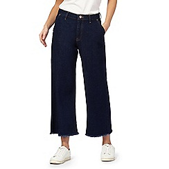 H! by Henry Holland - Blue wide leg cropped jeans