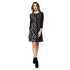 Principles - Grey geometric print mini shift dress