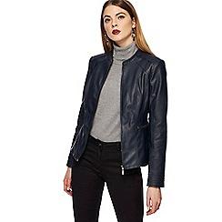 Principles - Navy biker jacket