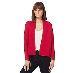 Principles by Ben de Lisi - Pink textured edge to edge cardigan
