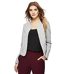Principles - Grey textured cropped jacket