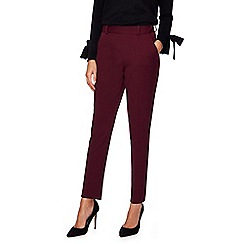 Principles Petite by Ben de Lisi - Dark red suit tapered trousers