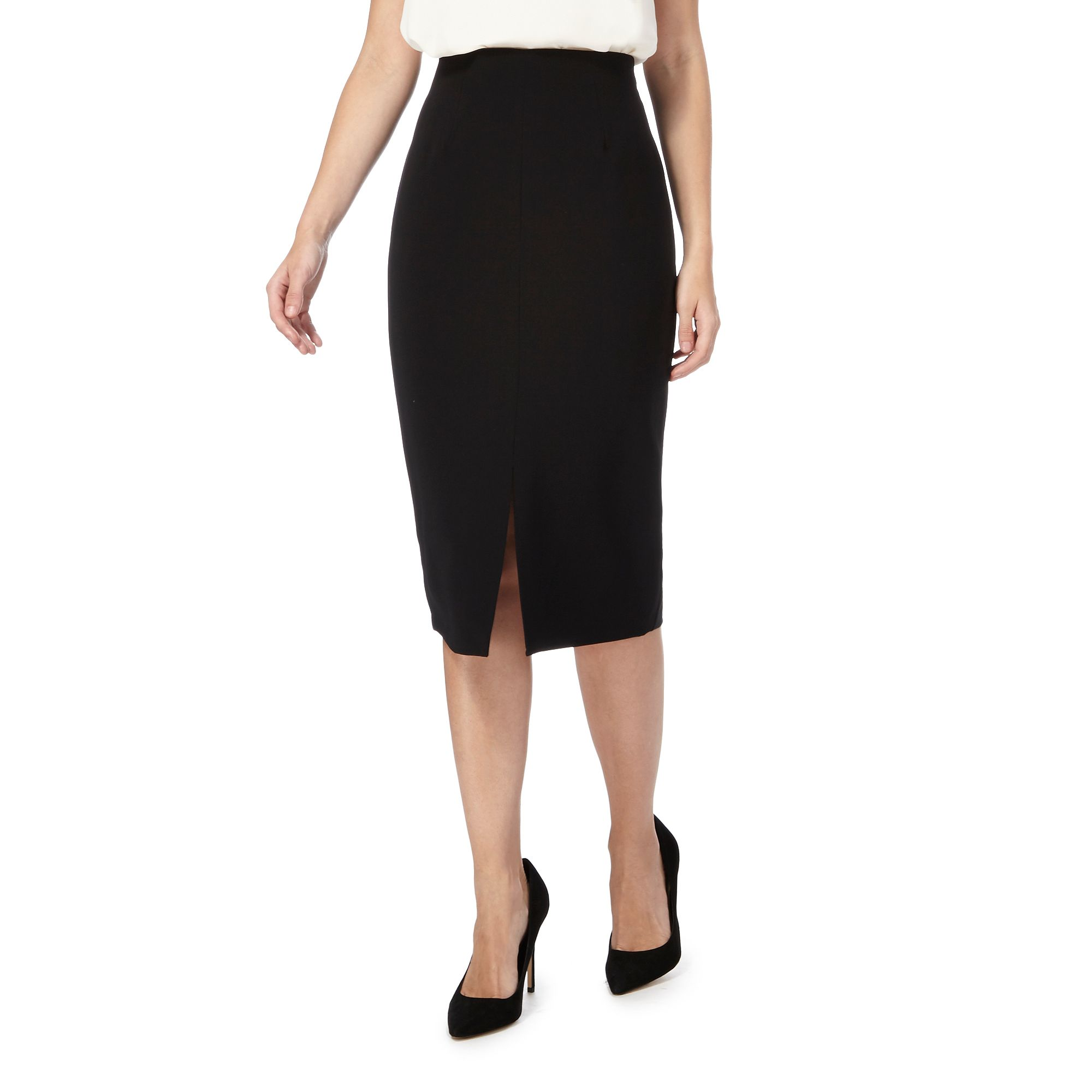 principles by ben de lisi womens black pencil skirt from