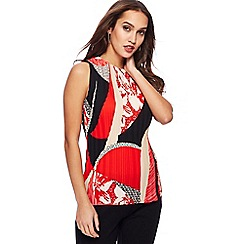 Principles - Red printed pleated top