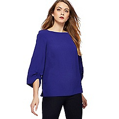 Principles - Royal blue ruched sleeves top