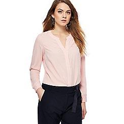 Principles - Light pink pinstripe print notch neck shirt