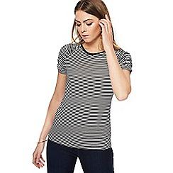 Principles - Black striped prawn sleeves top
