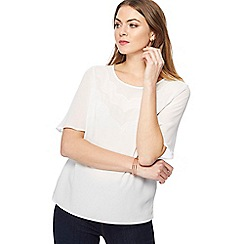 Principles - Ivory ruffle sleeve top