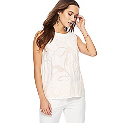 Principles - Ivory floral burnout top