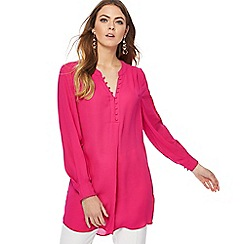 Principles - Bright pink pleated back shirt