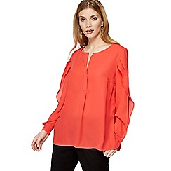 Principles - Coral split sleeve top