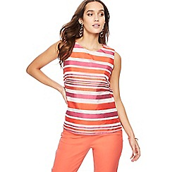 Principles - Multi-coloured burnout striped top