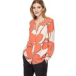 Principles - Peach floral print shirt