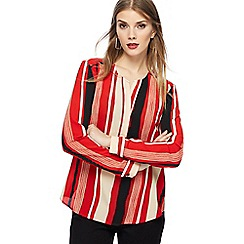 Principles - Red striped crepe top