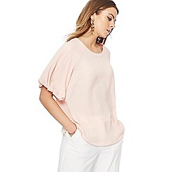Principles - Light pink puff sleeve top