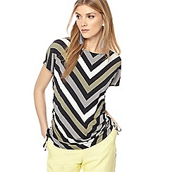 Principles - Ivory striped print top