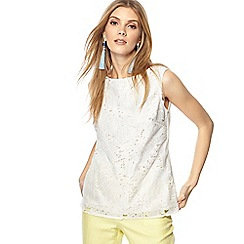 Principles - Ivory lace shell top