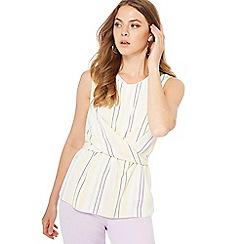 Principles - Multi-coloured stripe print sleeveless top