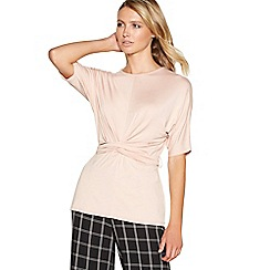Principles - Light pink tie front top