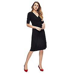 Principles - Black V-neck short sleeves knee length tea dress