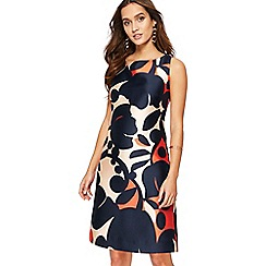 Principles - Navy swirl print mini shift dress