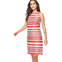 Principles - Multi-coloured striped knee length shift dress