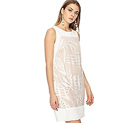 Principles - Light pink palm leaf burnout mini shift dress