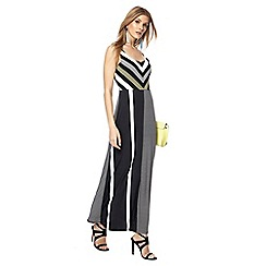 Principles - Black striped maxi dress