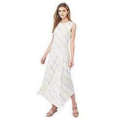 Principles - Multi-coloured stripe print sleeveless midi dress