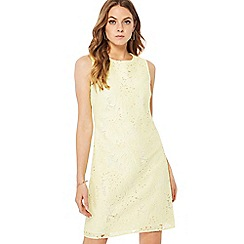 Principles - Light yellow lace mini shift dress