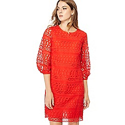 Principles - Red puff sleeve mini shift dress