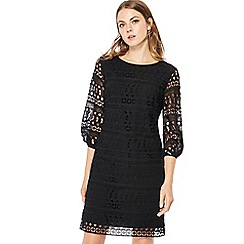 Principles - Black puff sleeve mini shift dress