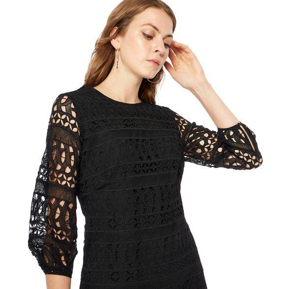 Black dress puff Principles shift mini sleeve dYqfwX