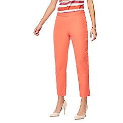 Principles - Peach bi-stretch trousers
