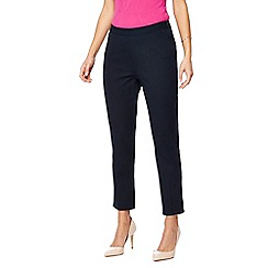 Principles - Navy bi-stretch trousers