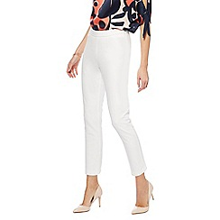 Principles - White bi-stretch trousers