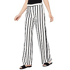 Principles - Black and white stripe wide leg trousers