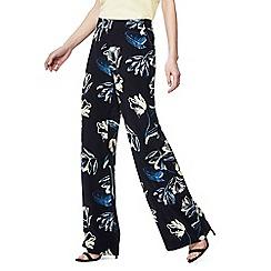 Principles - Black floral print trousers