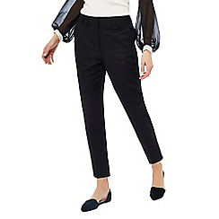 Principles - Black linen blend cropped trousers