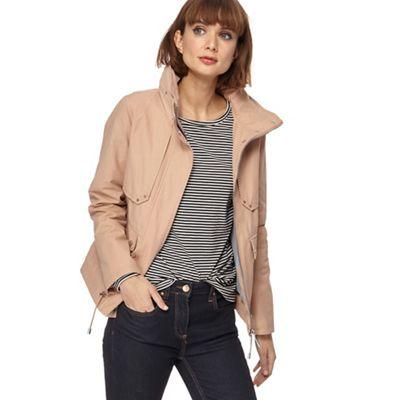 1433a796cbfc Principles - Beige cropped utility jacket