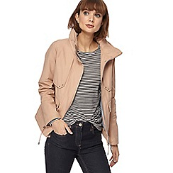 Principles - Beige cropped utility jacket